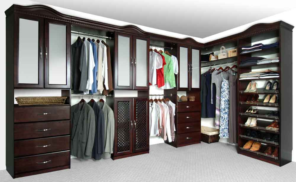 Solid Wood Closets Espresso ...