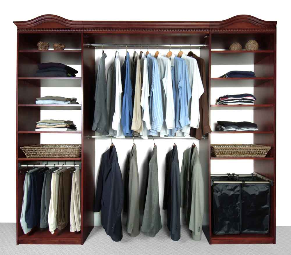 Solid Wood Closets Espresso Closet System With Added Top Shelves Cherry