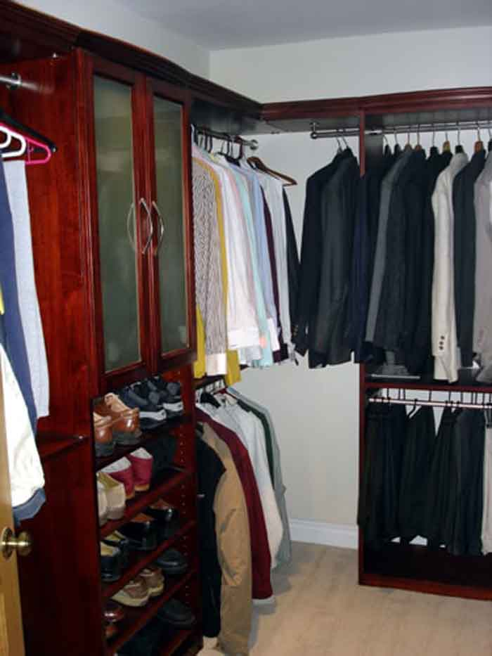 Cherry Closet System with Pants Rack