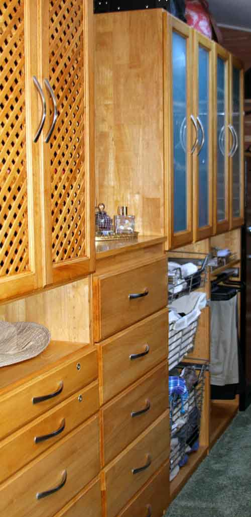 Closet Drawers and Baskets