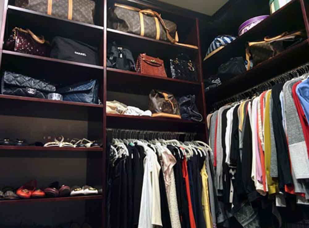 Closet Hanging and Shelving Above