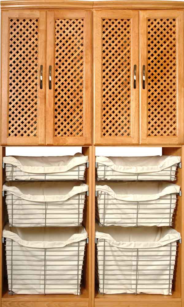 Superbe ... Maple Spice Closet Organizer With Baskets ...