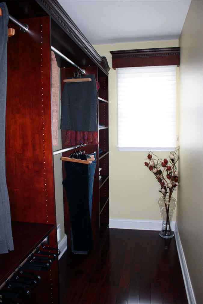 Closet Organizers with Pants Rack