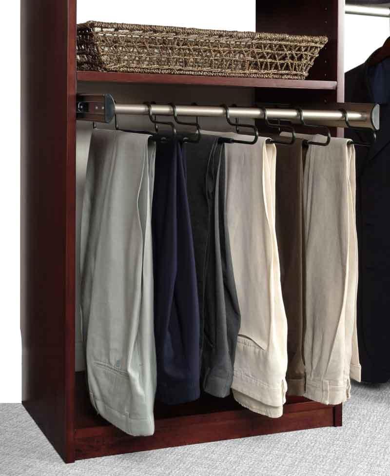 ... Closet Organizer With Baskets Pants Rack ...
