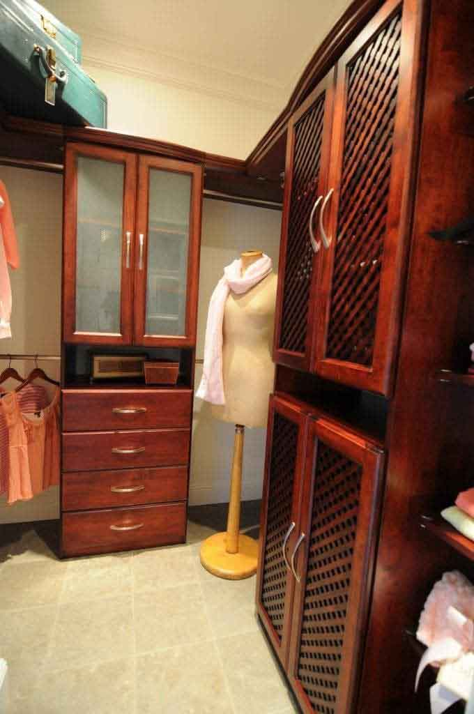 Solid Wood Closets at Pasadena Showcase House