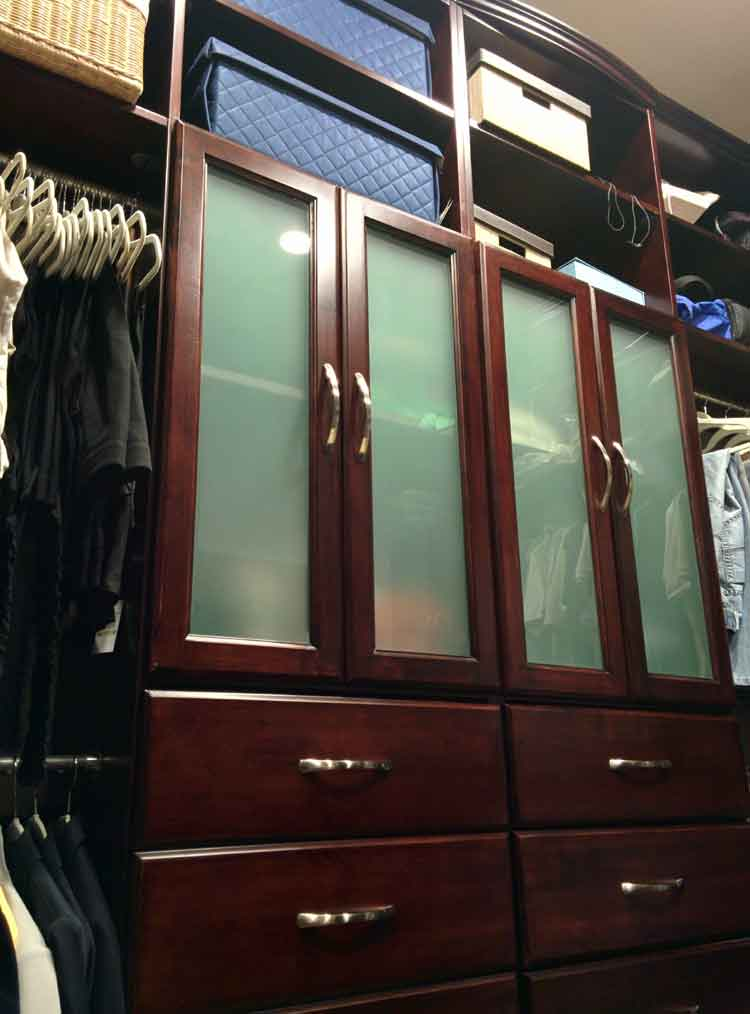 Closet Doors Drawers and Added Shelving