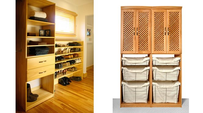 Charmant Closet System   Maple Spice