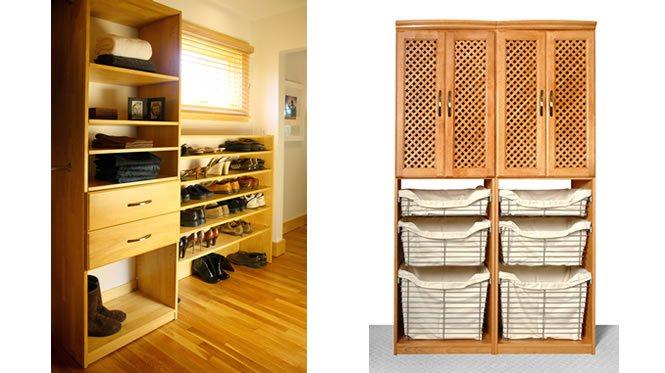 Closet System   Maple Spice