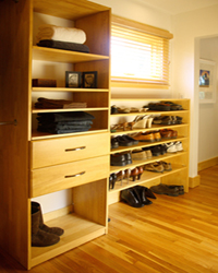 Closet Organizers - Solid Wood - Maple Spice