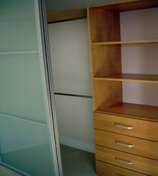 Reach In Closet Organizer with Drawers