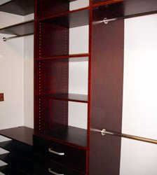 Walk In Closet Organizer with single rod and large shelves