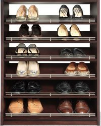 Closet Organizers Shoe Rack with Shoe Fence