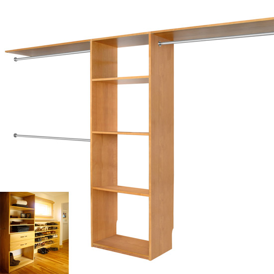 Walk In Closet Organizer System MAPLE SPICE