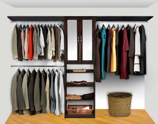 Charmant Walk In Closet Organizers Pre Configured #2