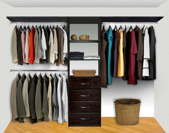 Exceptionnel Walk In Closet Organizers Pre Configured #3