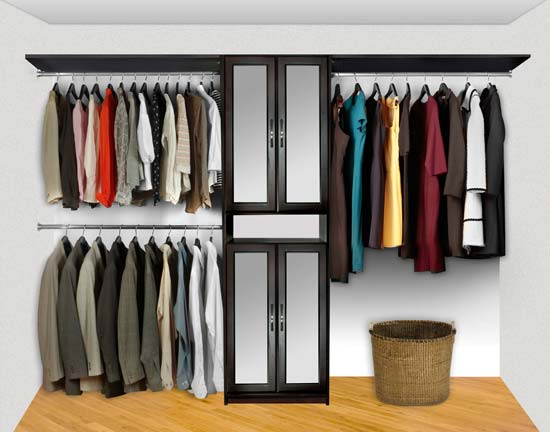 Walk In Closet Organizers Pre Configured #5