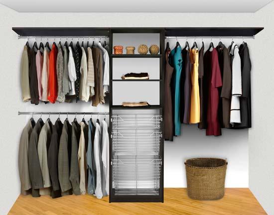 Walk In Closet Organizers Pre Configured #6